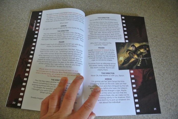 Look at the colour and images going right to the edge of the page!